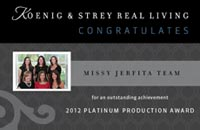 2012 Platinum Production Award